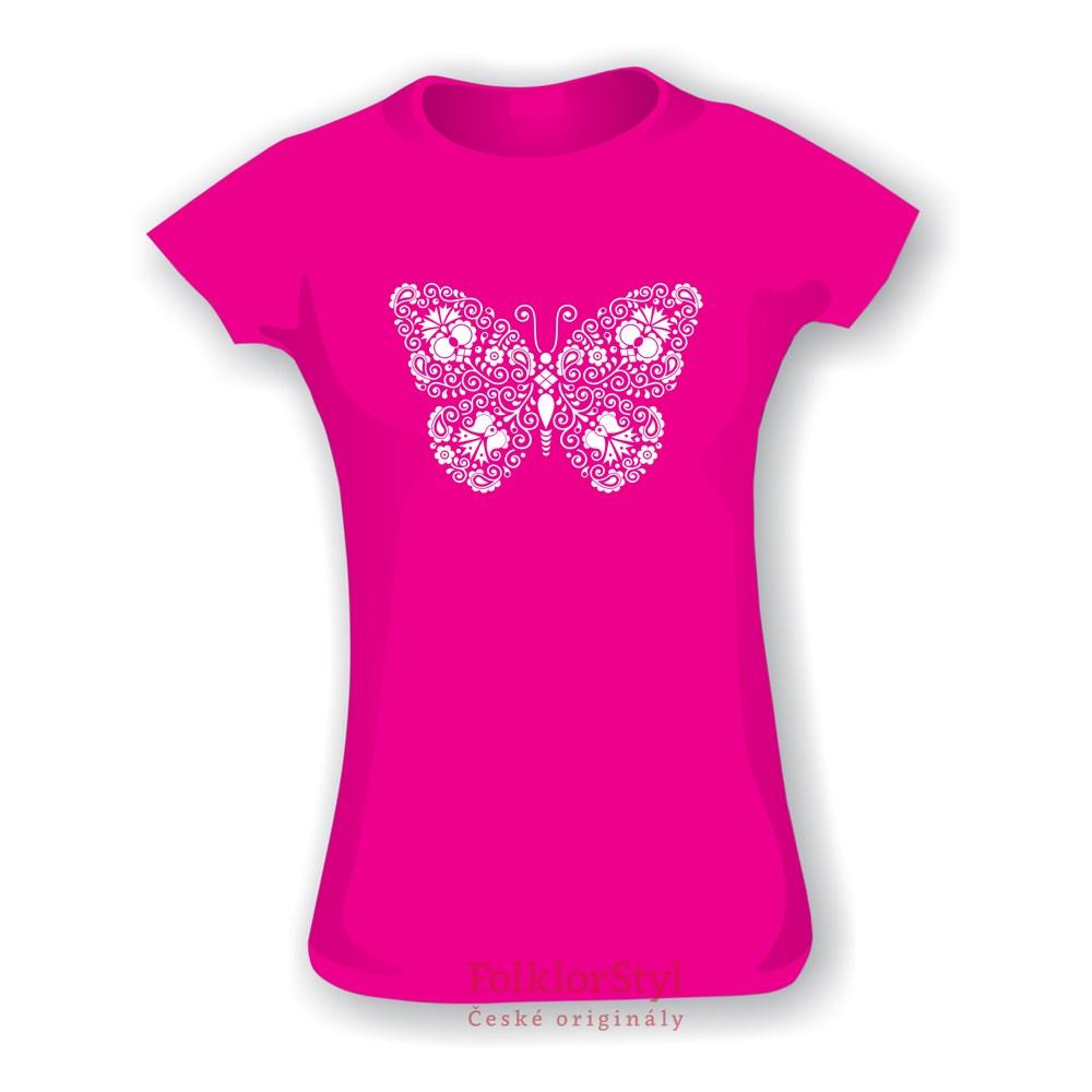 b119e54e994 Tričko dětské s potiskem Motýlka